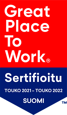 Great Place To Work Sertifioitu Toukokuu 2021 – Toukokuu 2022 Suomi