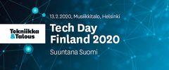 Logo: Tech Day Finland 2020 - Suuntana Suomi