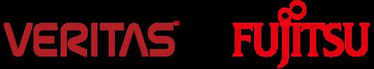 Logo: Fujitsu & Veritas - Data haltuun yhdessä
